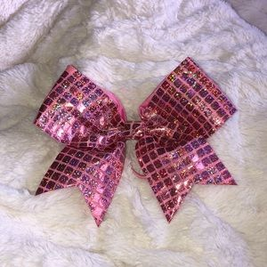 Hot Pink Sequenced Cheer Bow !